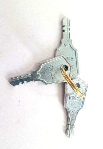 3 clés Pack kwl23 clé de remplacement fréquent sur premier Fenêtre Poignées