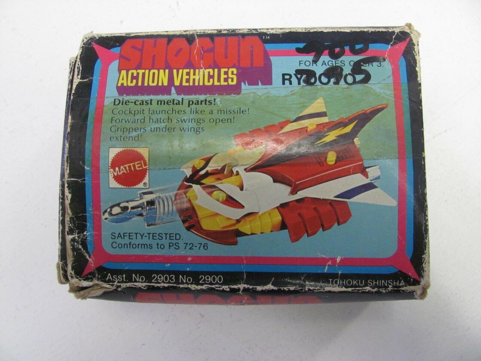 Mattel Shogun Action Fordon Rydoto Original låda Warriors Die Cast Metal