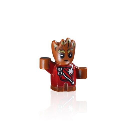 Baby Groot LEGO Super Heroes Guardians of the Galaxy MiniFigure Red Jacket