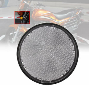 Round-Clear-Reflective-Reflectors-For-Motorcycles-Motorcross-ATV-Dirt-Bikes-2-034
