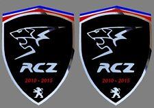 2 adhésifs stickers noir & chrome PEUGEOT RCZ ( à coller sur les ailes avant)