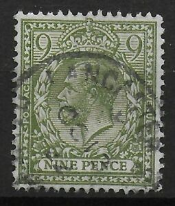 SG393a-9d-Olive-Green-Very-Fine-Used-With-Full-Perfs-amp-Good-Colour-Ref-0511
