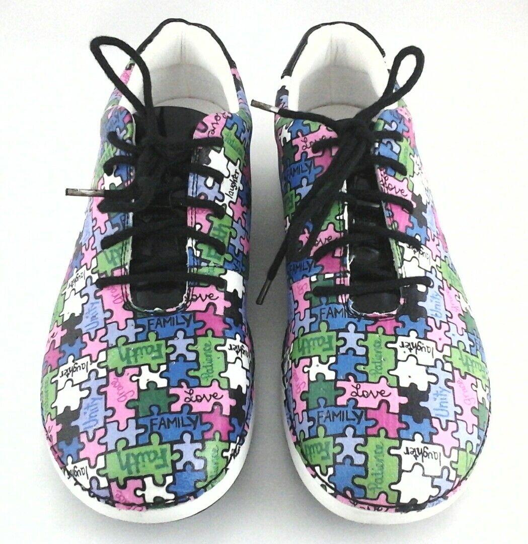 ALEGRIA Sneakers ALL TOGETHER Schuhes PUZZLE MULTI MULTI MULTI Comfort Damenschuhe US 9.5/10 EU 40 3f1e56