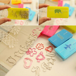 Box-of-12-x-Novelty-Paperclips-Cherry-Blossom-Heart-Star-Animal-Book-Page-Marker