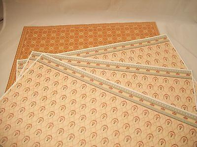 Tile Wall & Flooring Set covers 1 room dollhouse miniature wallpaper #34480 4pcs