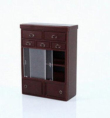Japanese Dollhouse Miniature Antique Cabinet Set