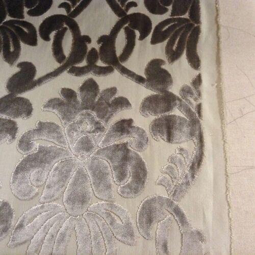 Ferrara Beige Natural Fibre Naturelle Cut Velvet Curtain//Upholstery Fabric