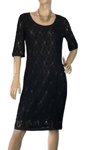 SPORTSCRAFT-SIGNATURE-SIZE-12-FLORAL-BLACK-LACE-DRESS