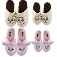 Adult Kids Half Surround Plush Fuzzy Animal House Slippers Winter Bedroom Shoes