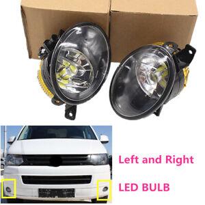 Fit-For-VW-Transporter-T5-10-15-Left-Right-Front-Bumper-LED-Fog-Lights-Foglight
