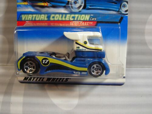 2000 HOT WHEELS  /'/'VIRTUAL COLLECTION/'/' #118 = SEMI-FAST = WHITE /& BLUE 0910