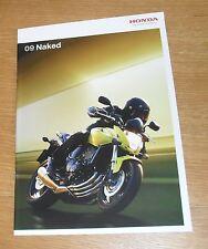 Honda Naked Motorbike Brochure 2009 - CB1300S CBF1000 CB600F Hornet CBF125