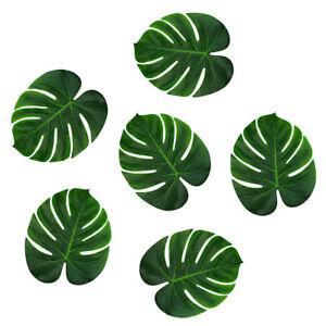 10 Pièces Artificiel Tropicale Soie Palm Leaves Monstera Beach Party Décoration-afficher Le Titre D'origine Avoir Un Style National Unique