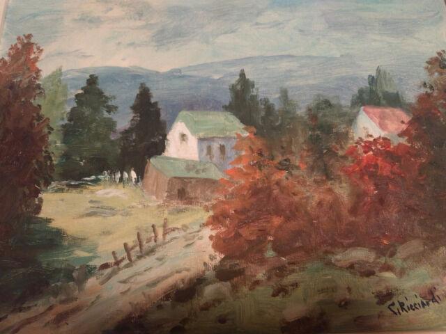 Cesare Ricciardi Vintage Original Beautiful Oil Signed Painting