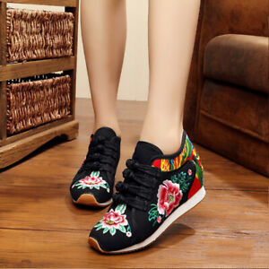Women-Wedge-Kapok-Embroidered-Shoes-Chinese-Style-Casual-Canvas-Dance