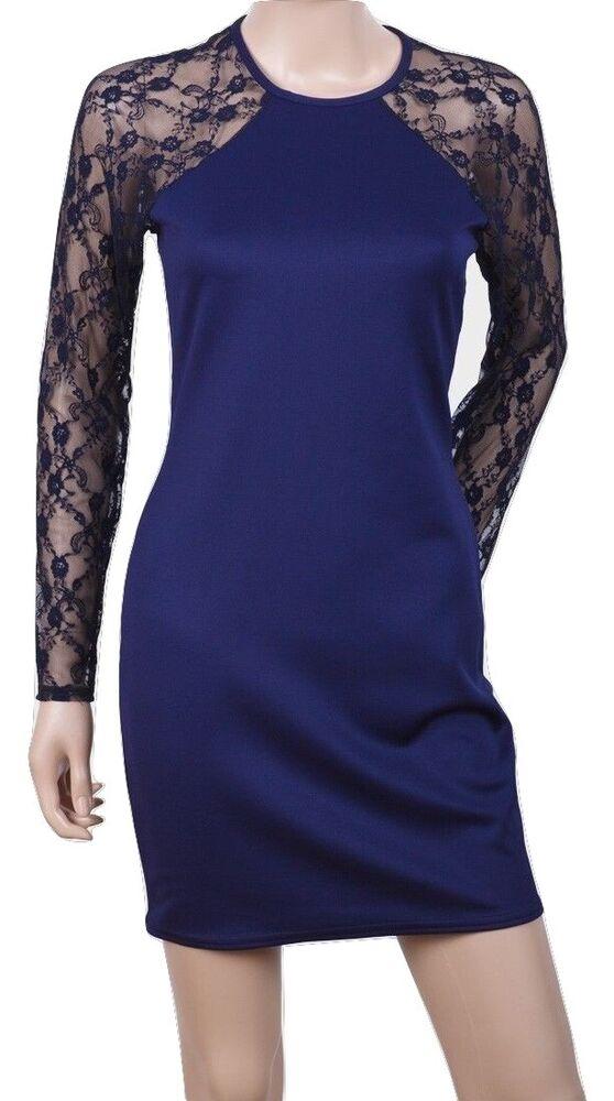"""""""zack London Mesdames Laceback Bleu Robe Moulante-taille - 6/8/10/12"""