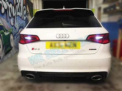 2x Audi A3 S3 RS3 8v Reverse White canbus Bulbs 8smd 3030 SMD Error Free BAX9S