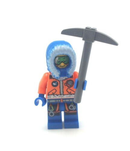 Lego City Minifig Artic Base Camp Male Explorer Goggles Ice Axe Pic CTY493 60036