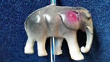 Vintage Antique CELLULOID TOY ELEPHANT Figure on a straw Made in Japan
