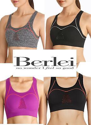 BERLEI Seamfree Sports Bra Crop Top UK Size 12  Medium 14 Large NEW TAGS
