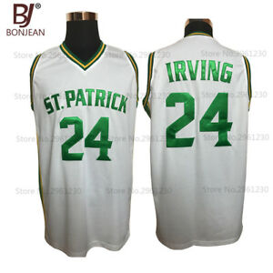 on sale 38c33 d1242 Details about Kyrie Irving Jersey BONJEAN 24 St. Patrick High School White  Basketball