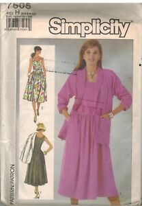 Image is loading 7505-Vintage-Simplicity-Sewing-Pattern-Misses-Stretch-Knit- e624e2124