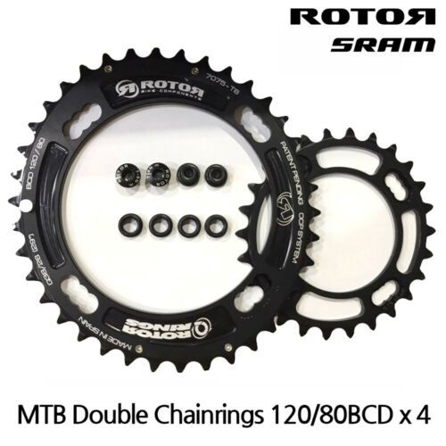 FOR SRAM XX 120//80BCD ROTOR MTB QRINGS OVAL CHAINRINGS QX2-DOUBLE
