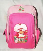 Strawberry Shortcake Large Pink Canvas Backpack 16x12x5