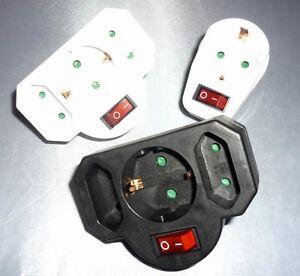 mehrfachsteckdose 3fach zwischen steckdose mit schalter. Black Bedroom Furniture Sets. Home Design Ideas