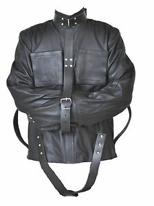 REAL LEATHER HEAVY DUTY STRAIGHTJACKET STRAIGHT STRAIT JACKET ...