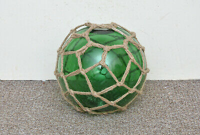 old original glass float fishing float vintage glass buoy 30 cm FREE POST 12 in