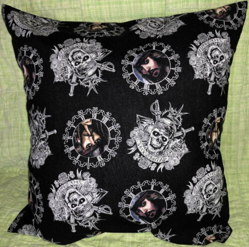Pirates of the Caribbean Captain Jack Sparrow Handcrafted Cotton Pillow Cover