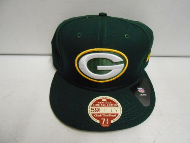 91e4a9bc NEW ERA Green Bay Packers NFL Official HERITAGE SERIES 59FIFTY Hat CAP Size  7