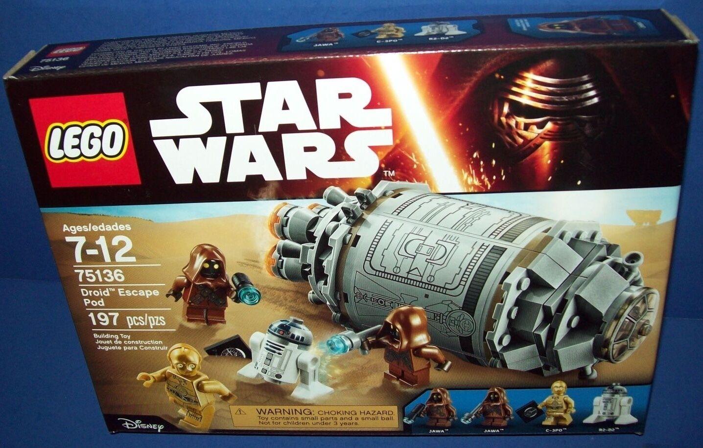 LEGO 75136 DROID ESCAPE POD  STAR WARS NISB new Retired