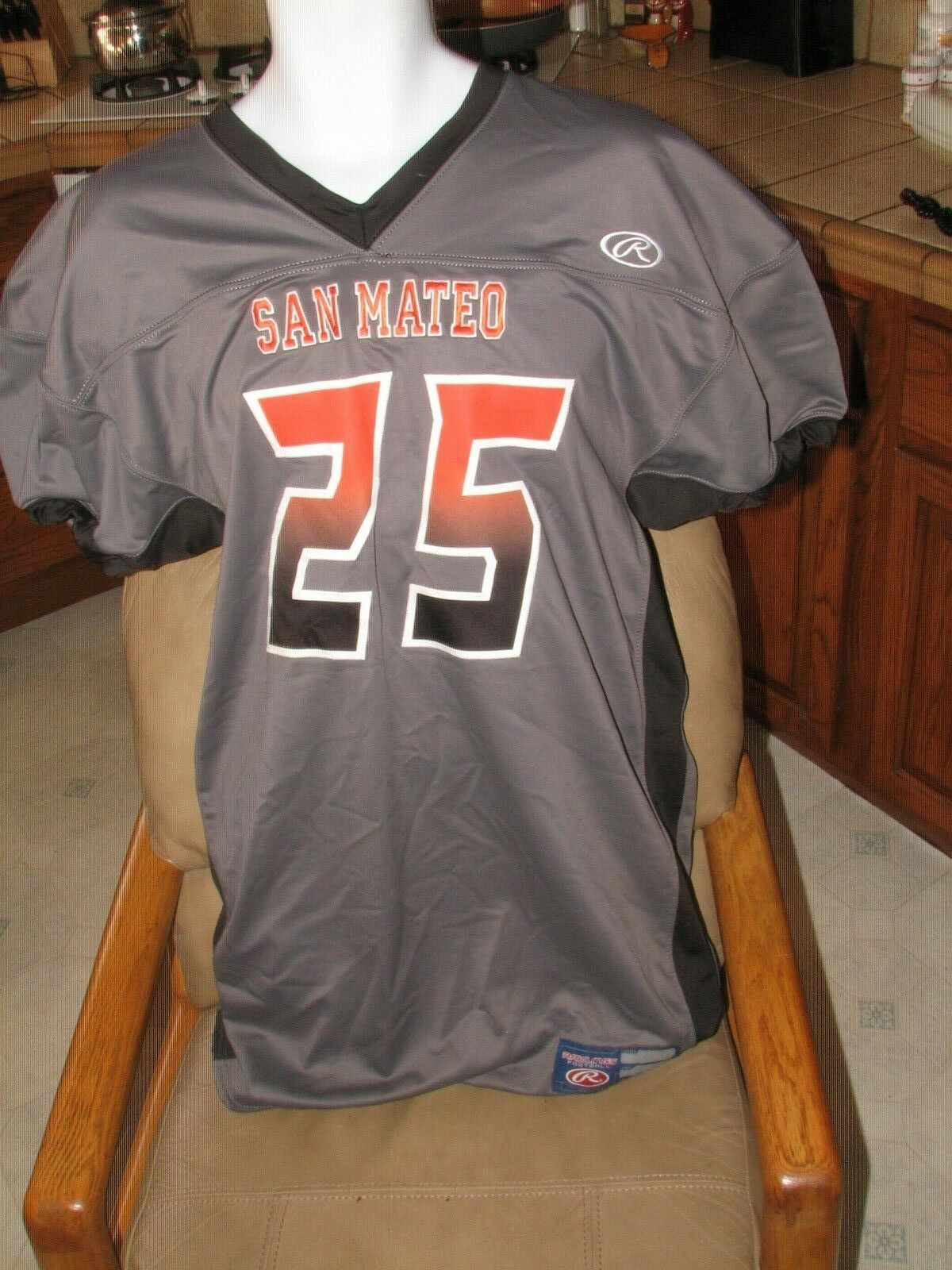 San Mateo High School Football Jersey Rawling's Men's 2XL New Salesmen's Sample