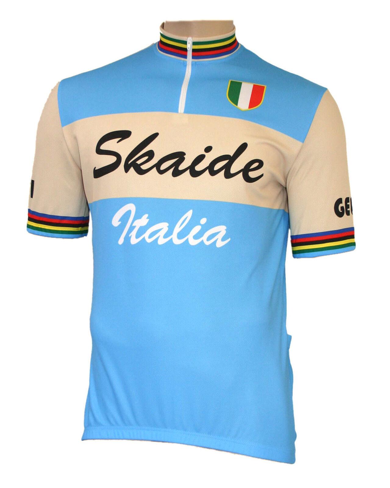 ciclismo skaide ITALIA RETRO AZZURROCREMA A uomoiche Corte anche taglie forti fino a 6xl