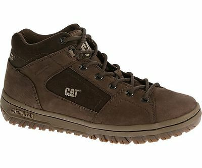 Caterpillar Assign Mid Mens Brown Hi Top Lace Up Trainers Shoes Boots