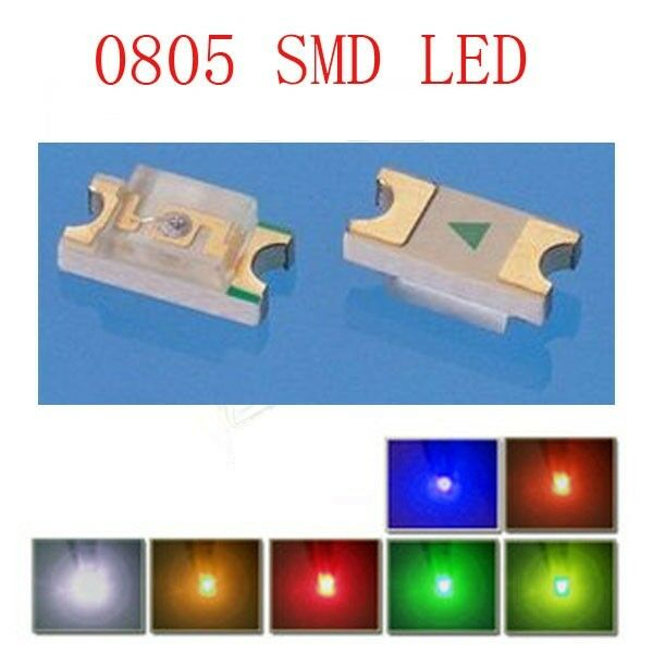 0805O ogeled SMD LEDs SMD 0805 orange leds 50 Stk