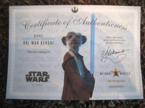 Star Wars Sergei comme Obi-Wan Kenobi /& Aleksandr que Luke Skywalker Suricates Entièrement neuf dans sa boîte