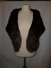 VINTAGE REAL FUR STOLE  WITH POCKETS