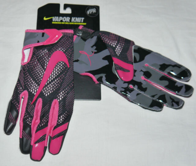 Nike Vapor Knit Skill Football Gloves Black Pink Breast Cancer XXL ... fb701a7c0bb0