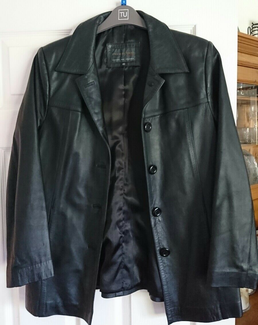 ProudFoot Leather Lambskin Mens Ladies Coat Size 40
