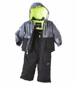 b56272981 OSHKOSH B GOSH® Baby Boy 18M Gray   Black 2-Pc. Jacket   Snowsuit ...