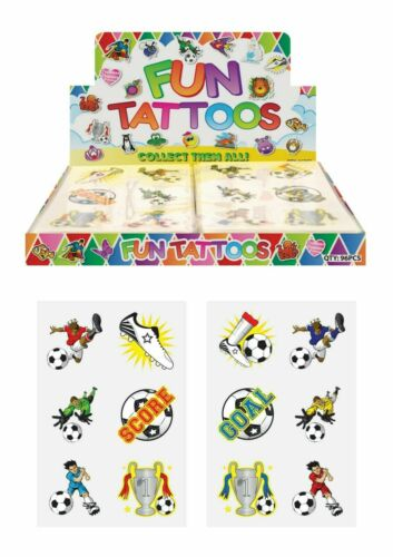 54 Childrens Football Temporary Tattoos Kids Loot Party Bag Fillers Boys Girls
