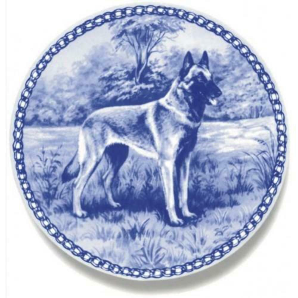 Belgian Malinois - Dog Plate made in Denmark from the finest European Porcelain