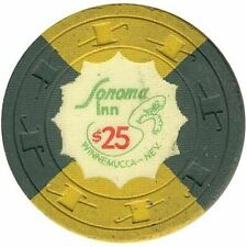 Sonoma Inn Casino Winnemucca NV $25 Chip 1960