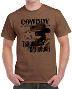 4362da810 Mens Graphic Tee Through & Through Cowboy Western T-Shirt Adult Size ...
