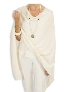 CASHMERE-Poncho-IVORY-CAPE-Wrap-OneSize-Fits-All-FREE-UK-Shipping-NATURAL-COLOUR