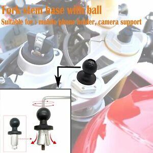 Motorrad-Fahrrad-Gabelschaft-Basis-mit-Kugel-fuer-Telefon-Kamera-Halter-RAM-Mount