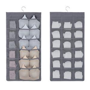 24 poches porte suspendu sac boîte chaussure Hanger bien rangé de stockage Rack